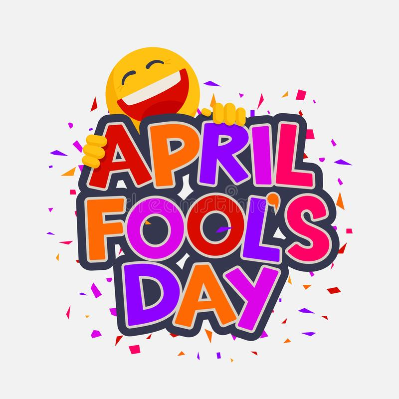 Free April Fools Day Illustration With Laughing Smiley Stock Photo - 109930020