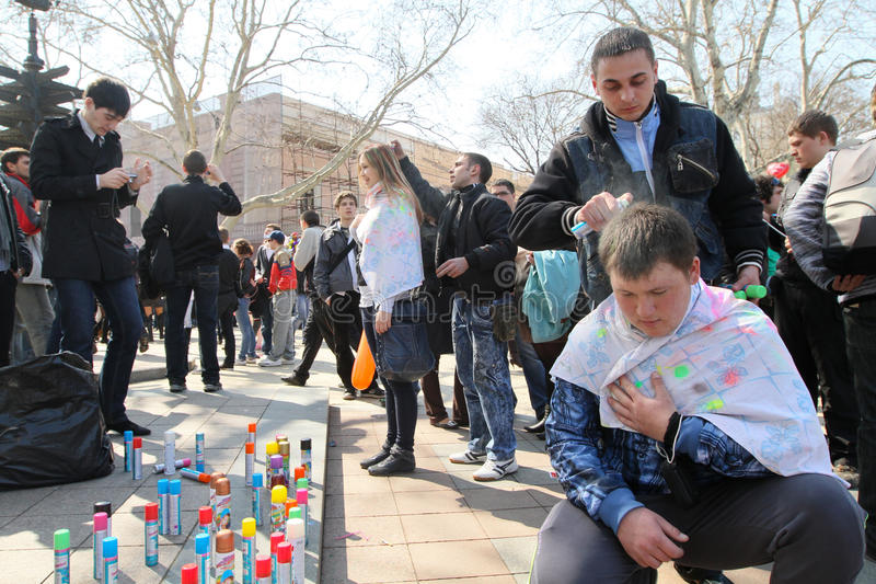 April Fools  Day In Odessa, Ukraine. Editorial Image