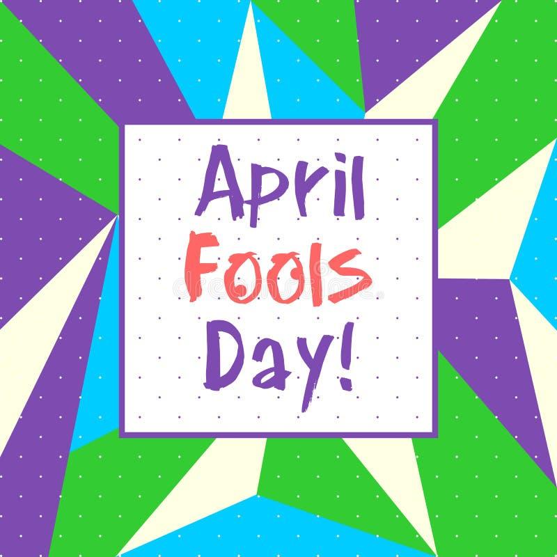 April Fools Day - vecteur illustration libre de droits