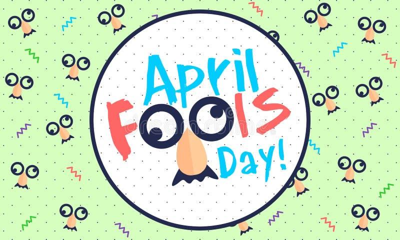 April Fools Day - vektor royaltyfri illustrationer
