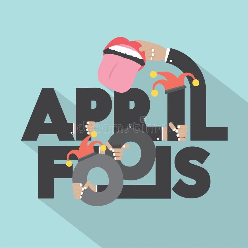 April Fools Typography Design ilustração stock