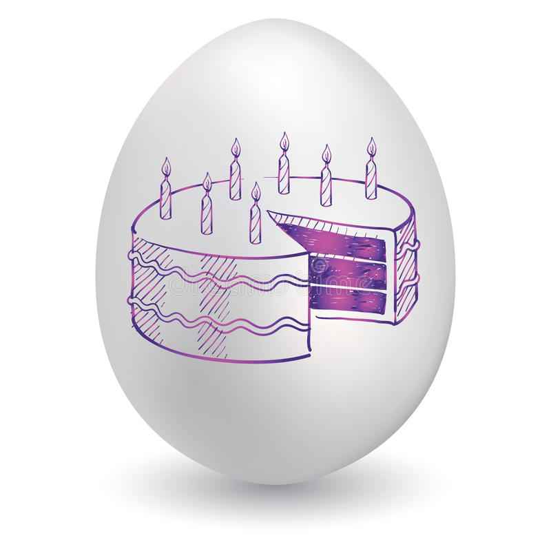 April-Geburtstagskizze stock abbildung