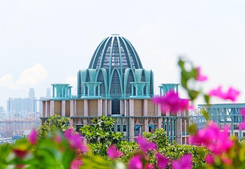 April 2014 hotell på den Sentosa ön Singapore arkivfoton