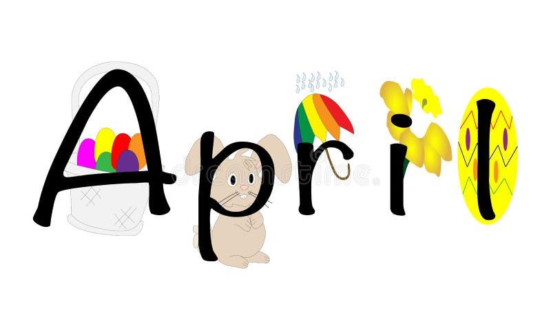 April-illustratie stock illustratie