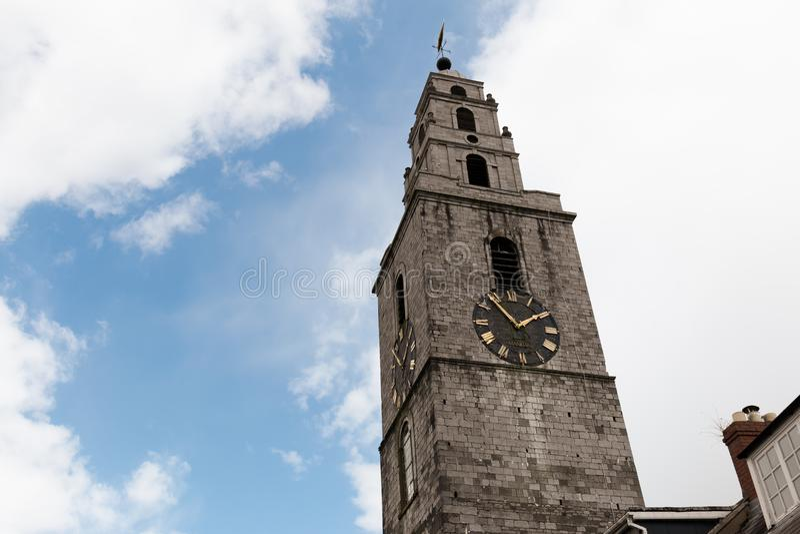 29. April 2018 Korken, Irland- - St- Anne` s Kirche u. Glockenturm Shandon lizenzfreies stockfoto