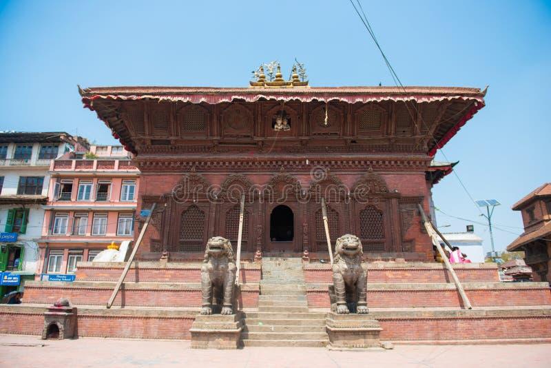 22 April 2018 - Nepal:: Hanuman Dhoka Palace - Durbar fyrkant Kat royaltyfri foto