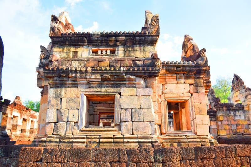 April 15, 2017 - Sa Kaeo Province - Thailand - Sightseeing `Prasat Sadok Kok Thom` - a temple built according to Hindu beliefs. `Prasat Sadok Kok Thom` is a royalty free stock photos