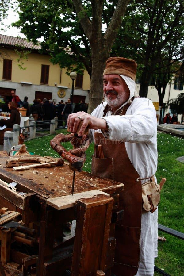 11/15 April 2019 - 400. upplaga av 'den Fiera dellen Palme 'Melzo Italien arkivfoto