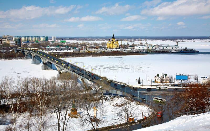 April View Of Strelka Nizhny Novgorod Stock Photography