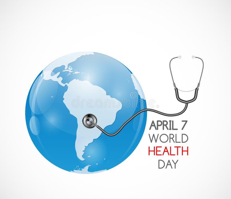 7. April Weltgesundheits-Tageshintergrund Auch im corel abgehobenen Betrag stock abbildung