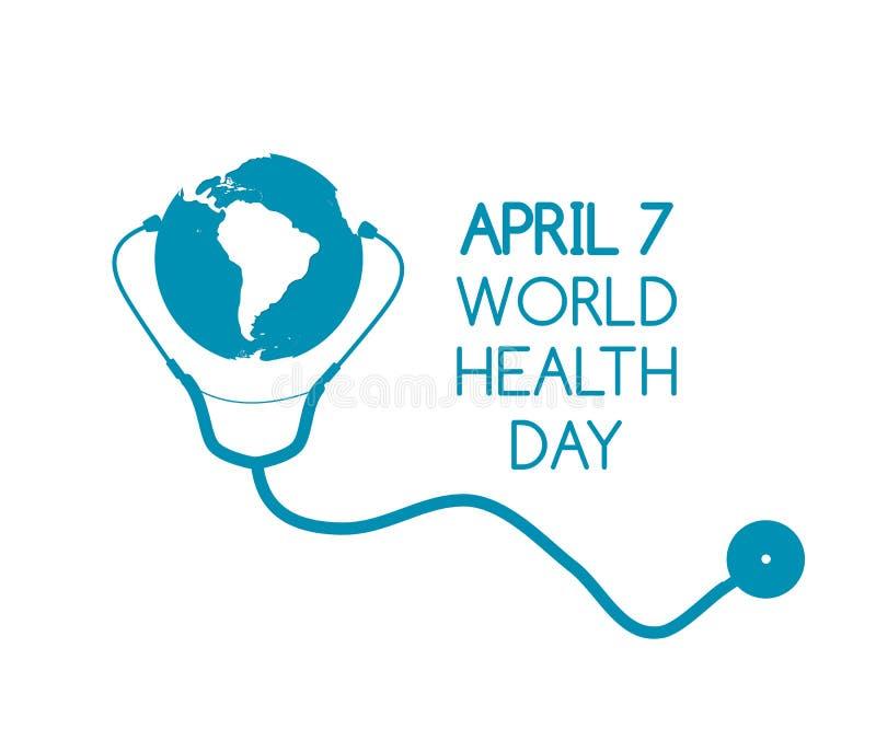 7. April Weltgesundheits-Tageshintergrund Auch im corel abgehobenen Betrag vektor abbildung
