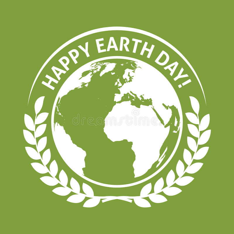 22. April Welttag der erde-Emblemaufkleber vektor abbildung