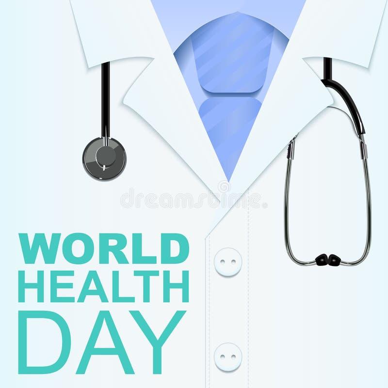 7 April World Health Day Texto para o cartão ilustração royalty free