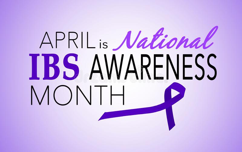 Aprile è mese di consapevolezza di sindrome di intestino irritabile IBS fotografia stock libera da diritti