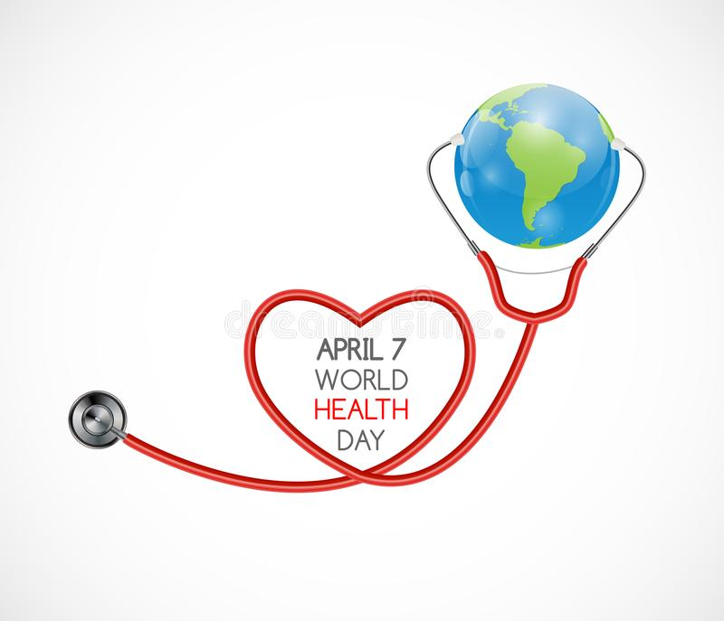 7 aprile, fondo di giorno di salute di mondo Illustrazione di vettore illustrazione di stock