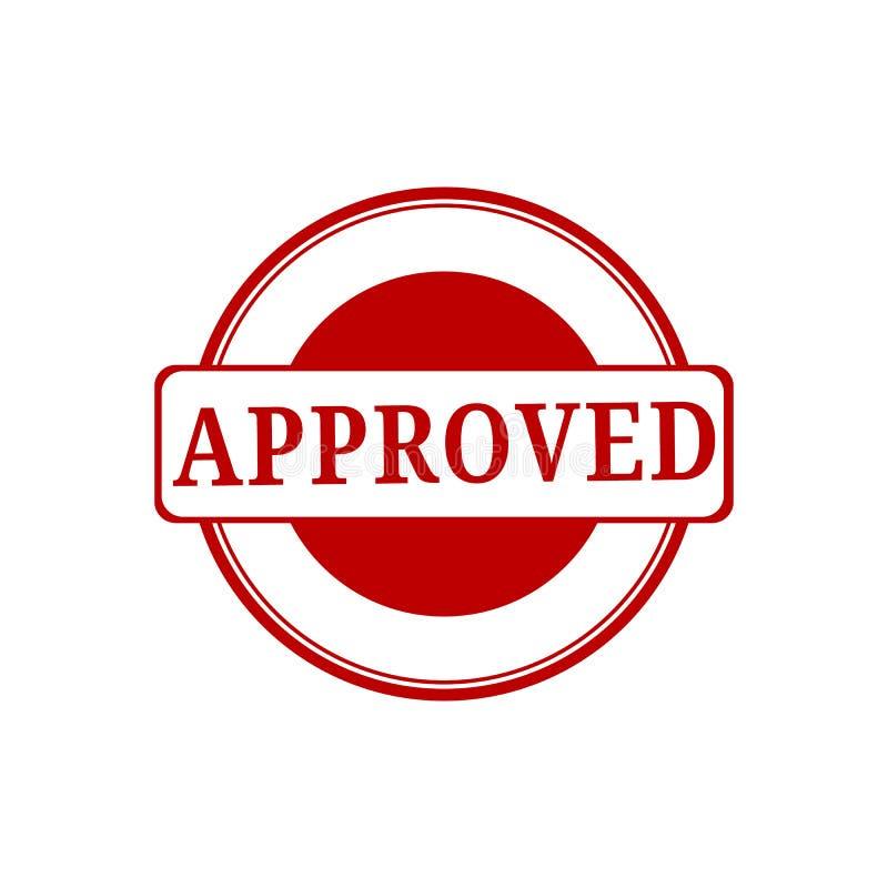 aprobado sello muestra aprobada del grunge redondo rojo Grunged aprueba el sello ilustración del vector