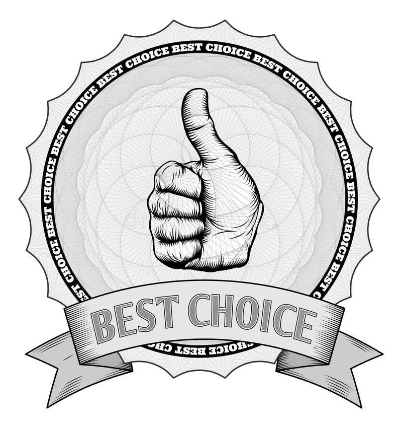 Aprobat najlepsza wyborowa nagrody odznaka ilustracja wektor