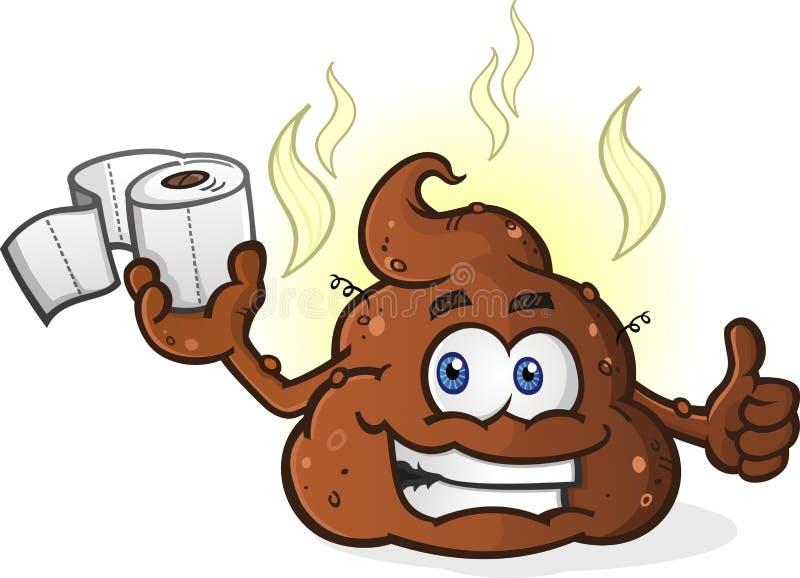 Aprobata kaku postać z kreskówki mienia papier toaletowy ilustracji