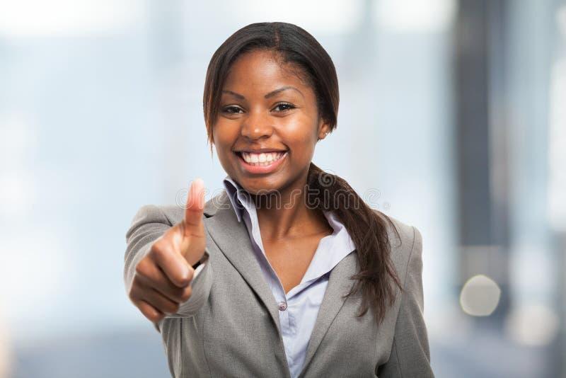 aprobaty biznesowa daje kobieta obrazy stock