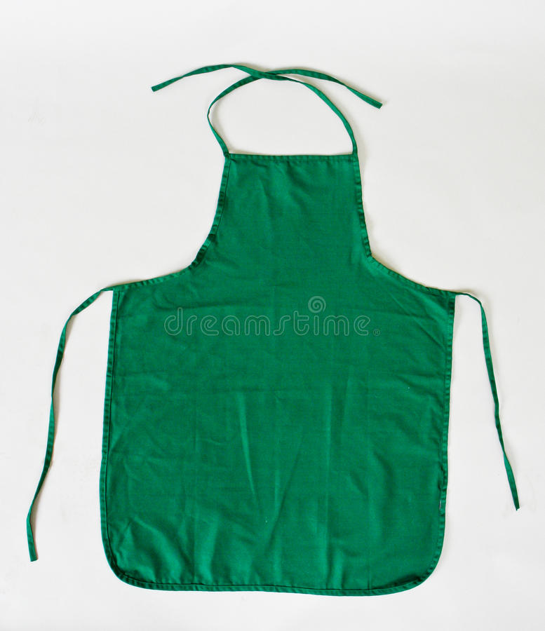 Apron. A apron isolated on white background stock photography