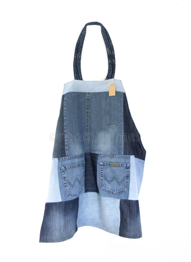 Free Apron Of Recycled Jeans Stock Photos - 113092313