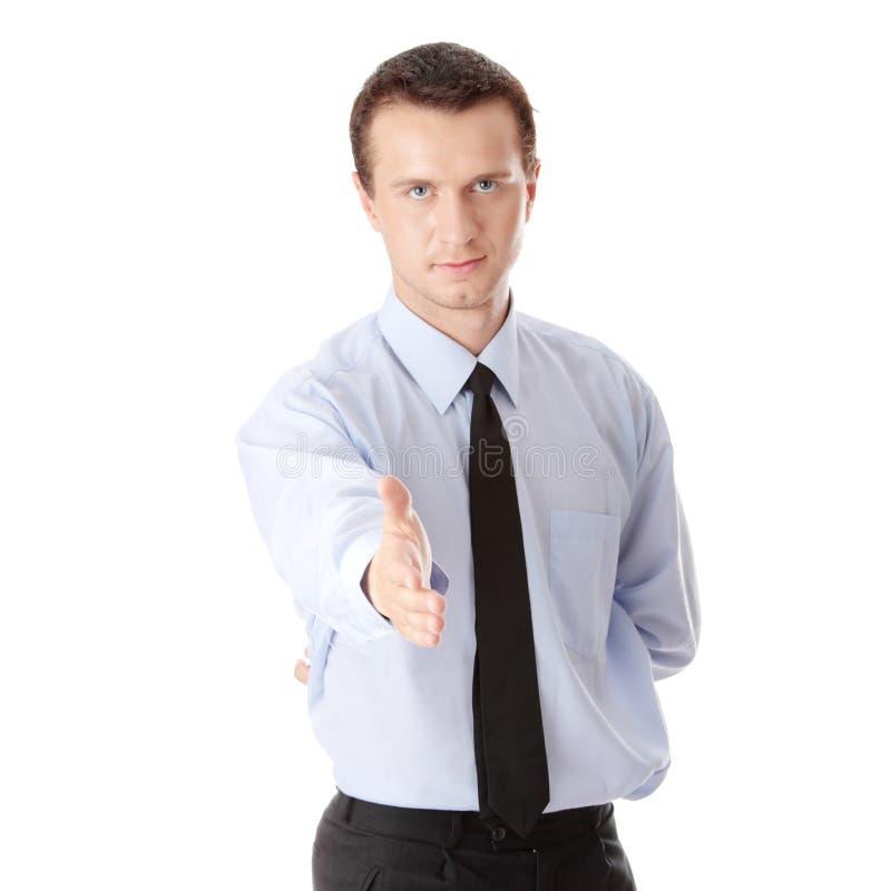 Apronte para ajustar um negócio sobre o fundo branco foto de stock royalty free