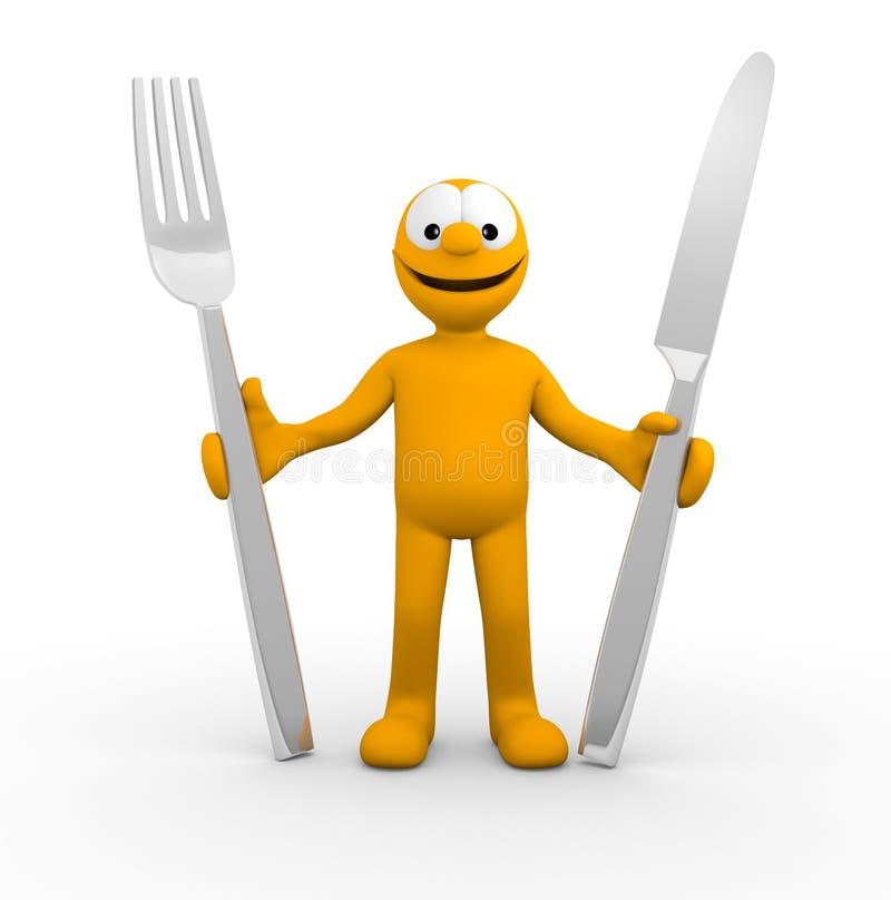 Apronte Para Comer Imagens de Stock