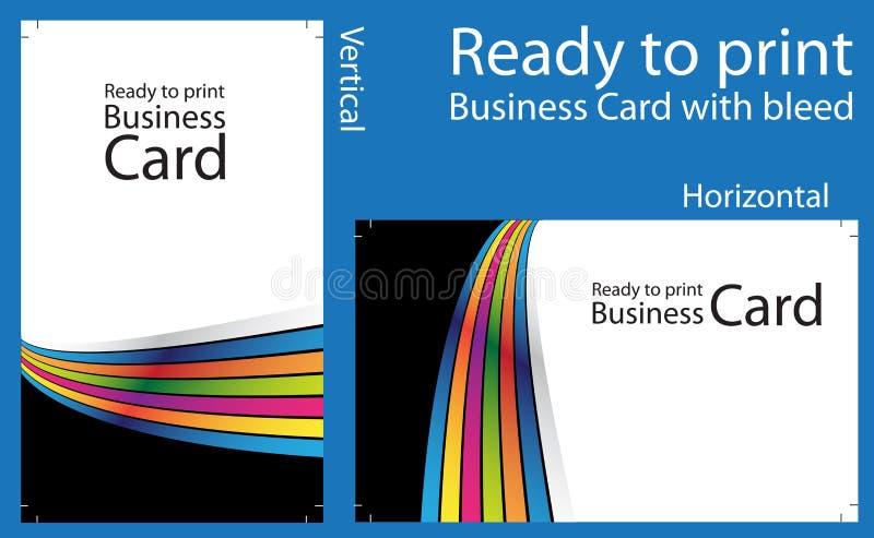 Apronte para imprimir o cartão ilustração stock
