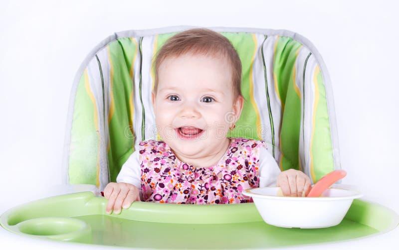 Apronte para o bebê do jantar fotografia de stock