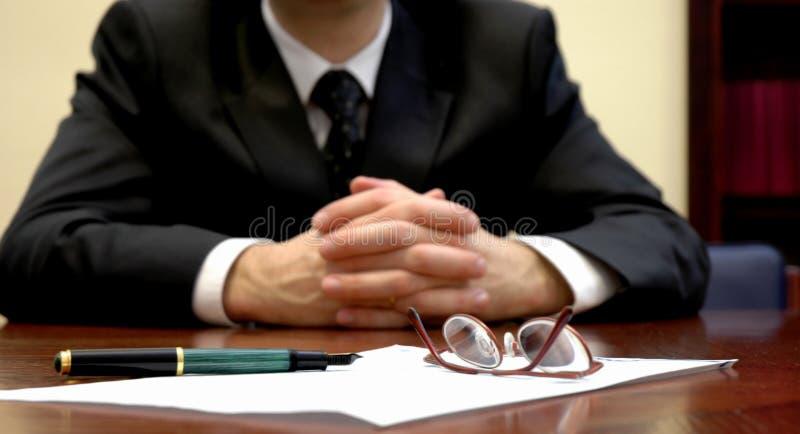 Apronte para o contrato imagens de stock royalty free