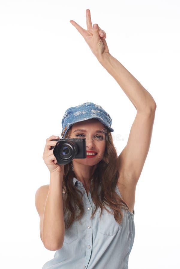 Apronte para tomar uma foto fotografia de stock royalty free