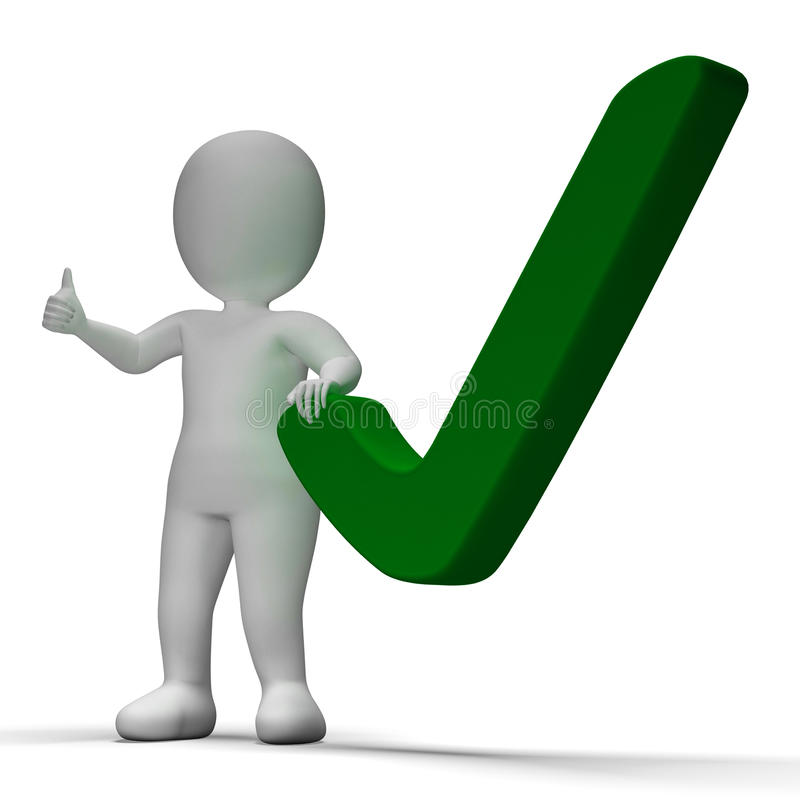 Aprovação de Tick Or Check Sign Shows ou verificado ilustração do vetor