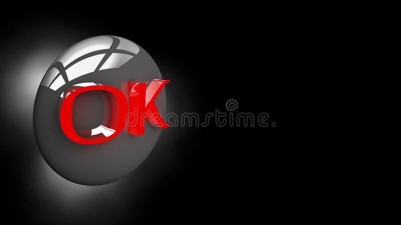 APROVAÇÃO do botão na ilustração 3D fotografia de stock royalty free