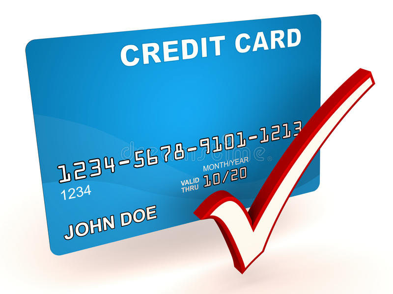 Aprovação do cartão de crédito ilustração royalty free