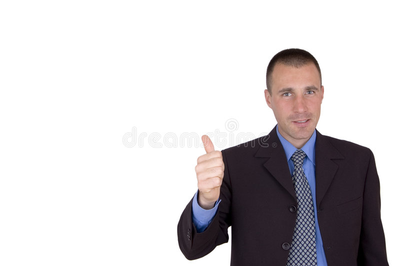 Aprovação do homem de negócio imagens de stock