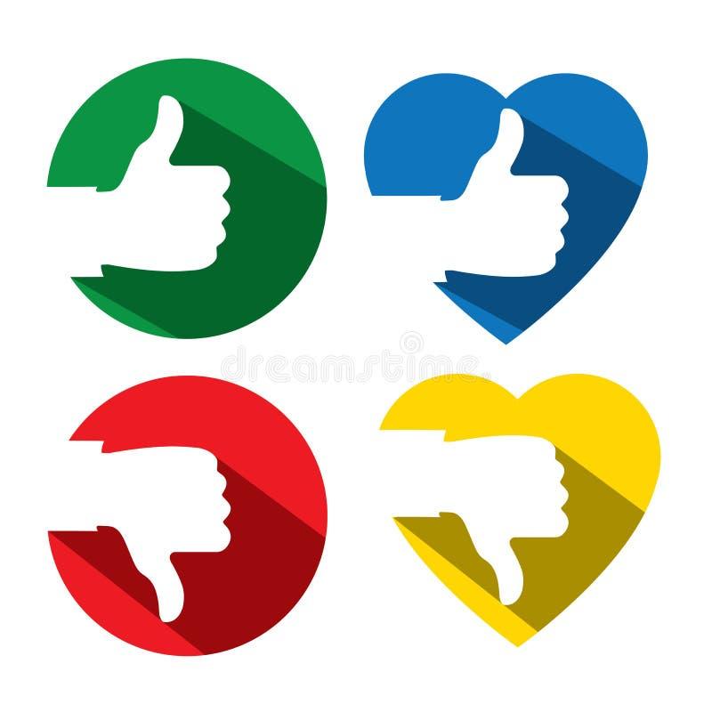 A aprovação gosta da confirmação, da aprovação & de conceitos aprovados, - vector o de liso ilustração stock
