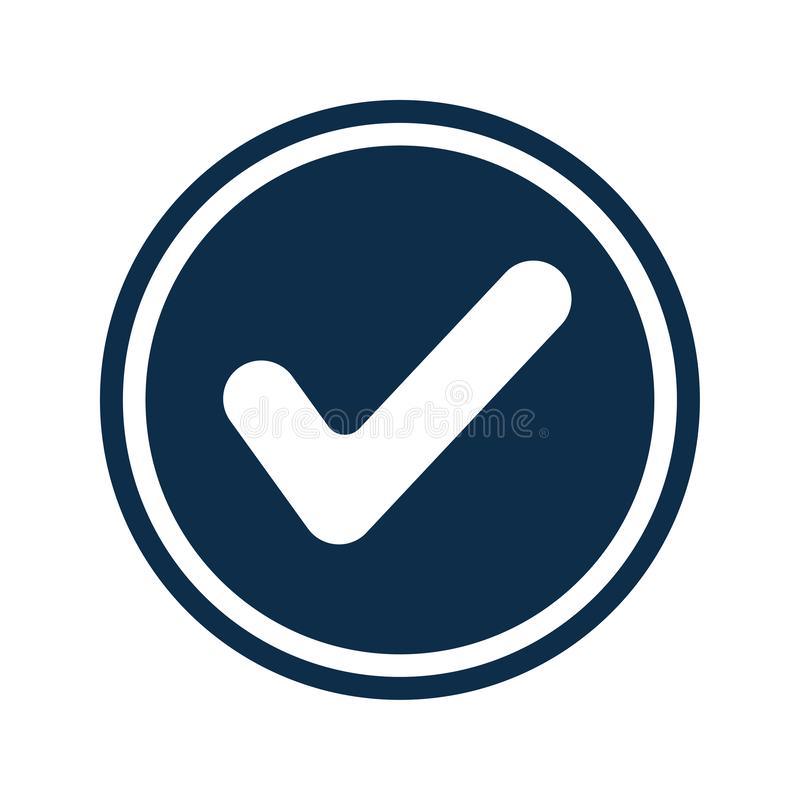 Aprovado, checkedmark, concedido o ícone ilustração royalty free