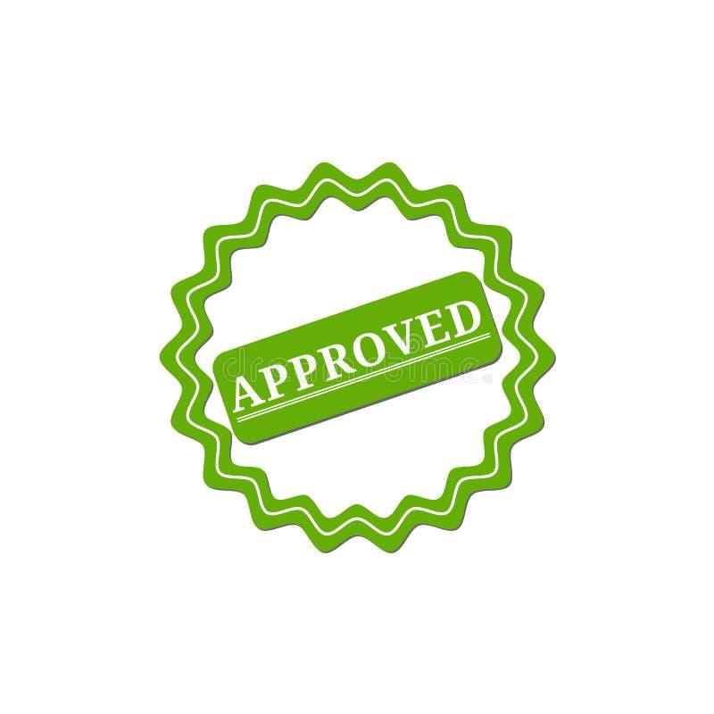 aprovado selo Sinal aprovado do grunge redondo verde ilustração royalty free
