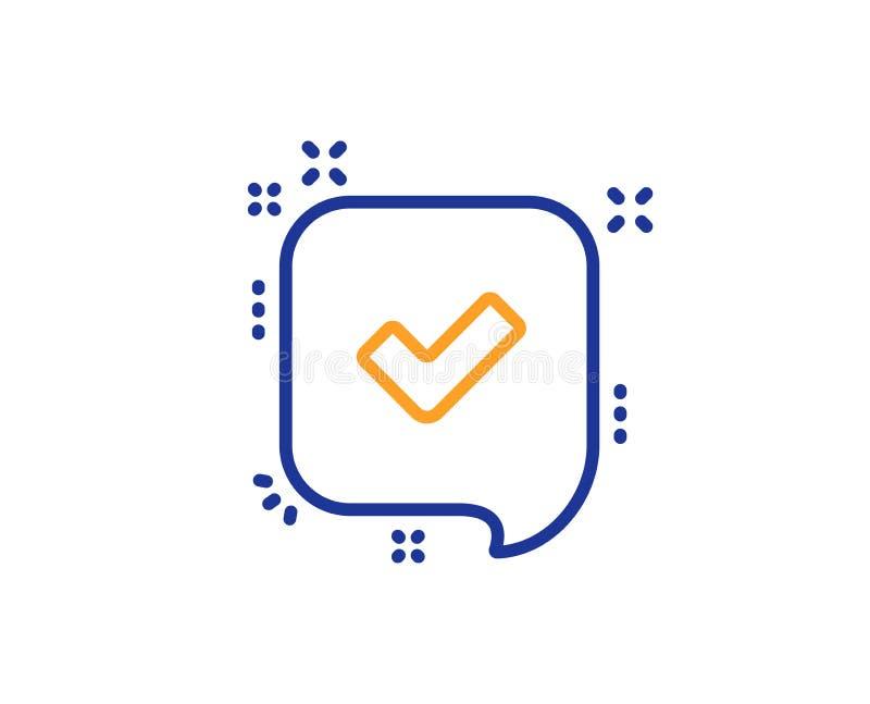 Aprove a linha ícone Sinal aceitado ou confirmado Vetor ilustração royalty free