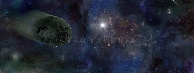 Aproximação asteróide ilustração royalty free