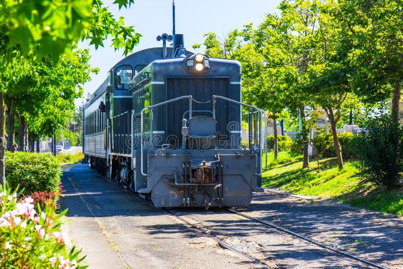 Aproximação da locomotiva & do trem imagens de stock royalty free