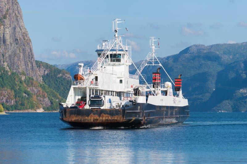 Aproximação do ferryboat fotos de stock