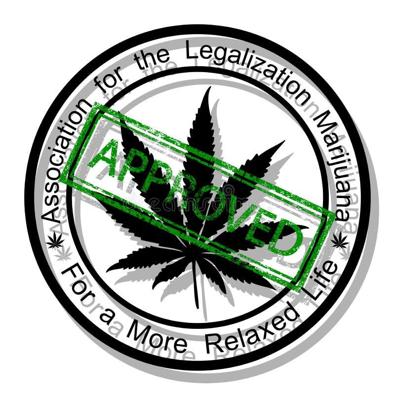 Apruebe la marijuana libre illustration