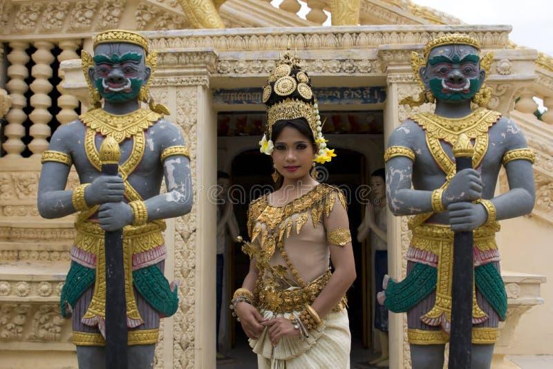 Apsara舞蹈演员 图库摄影