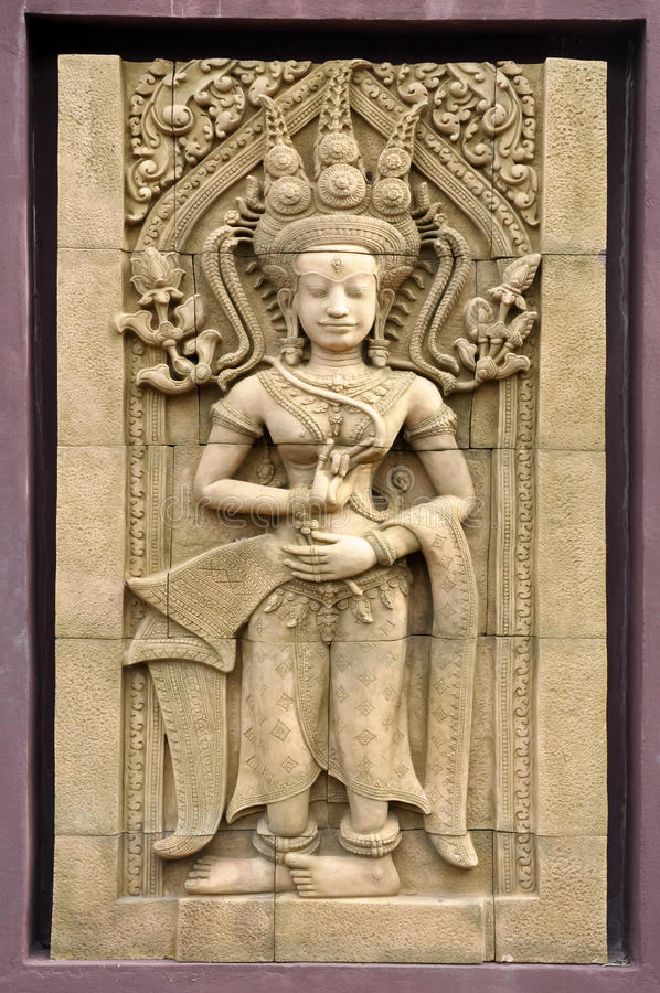 Download Apsara stock photo. Image of reap, ancient, buddha, khmer - 28676086