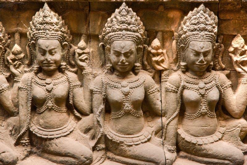 Apsara, Angkor Thom. Kambodja. stock foto