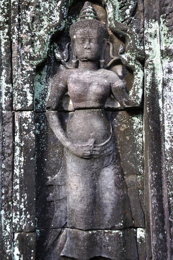 Apsara in Angkor Wat stock afbeeldingen