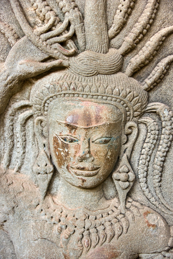 Apsara, Angkor Wat. Cambodia. royalty free stock photography