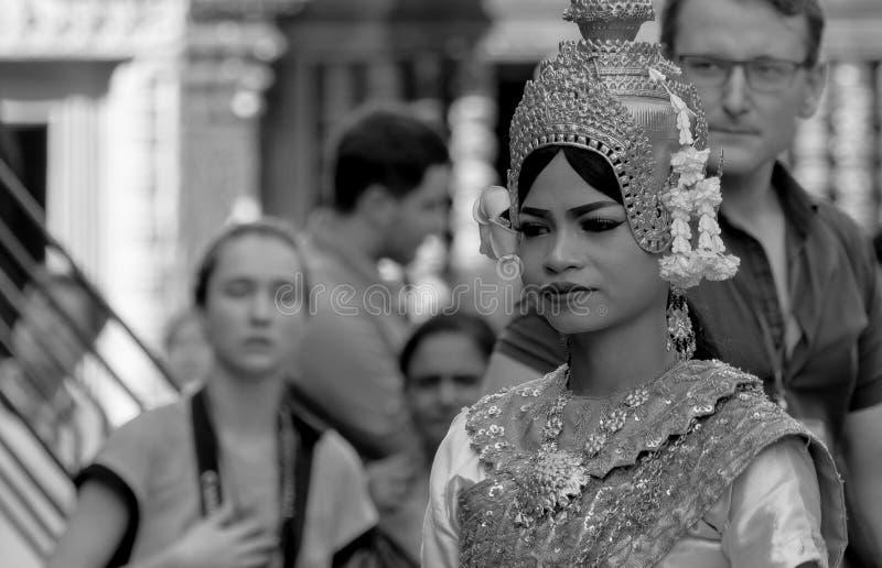 Apsara Cambodja royaltyfri foto