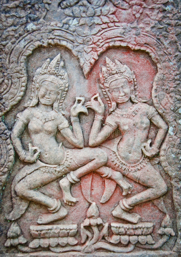 Download Apsara Dancers Of Angkor Wat Stock Image - Image: 20864889